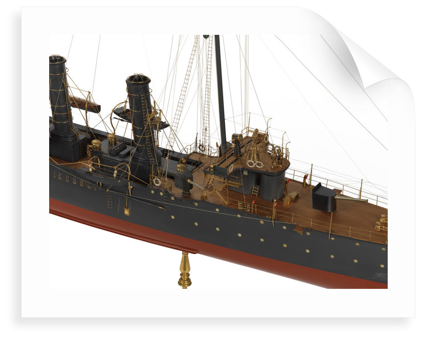 Warship and dispatch vessel 'Mogami' (1908) by unknown