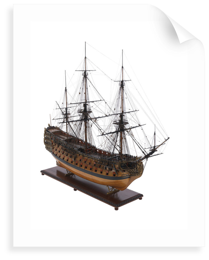 Model of First rate 100-gun warship 'Victory' (1737) by unknown