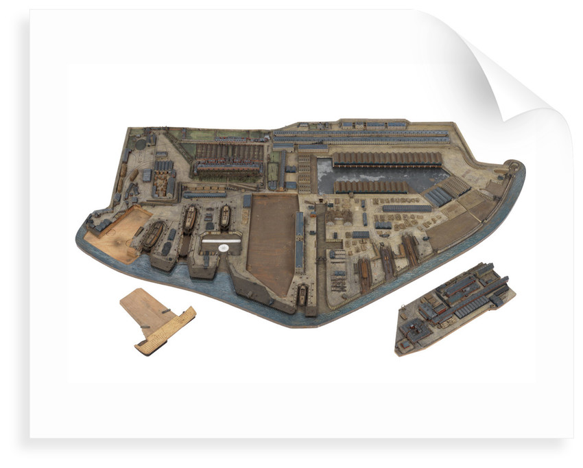 A topographical model of HM Dockyard Plymouth as it appeared in 1774 by Plymouth Dockyard Personnel