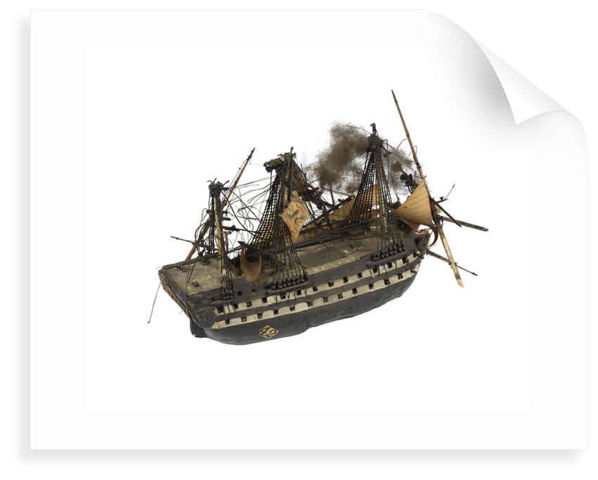 Warship; 74 gun by William Haines