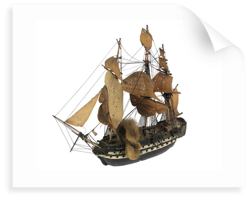 'Polyphemus'(?); 64 gun(?); warship by William Haines