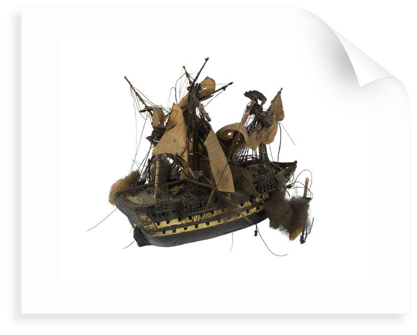 Warship; 74 guns by William Haines