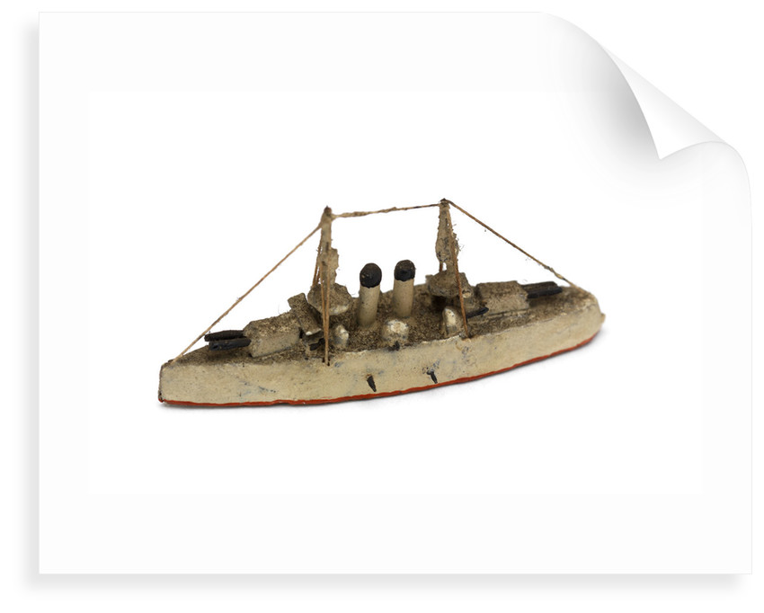 Instructional waterline recognition model of Japanese battleship HIJMS 'Yashima' (1894) by Gerald John Blake