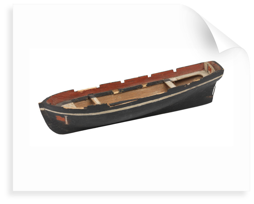 Unfinished model of a ship's boat by unknown