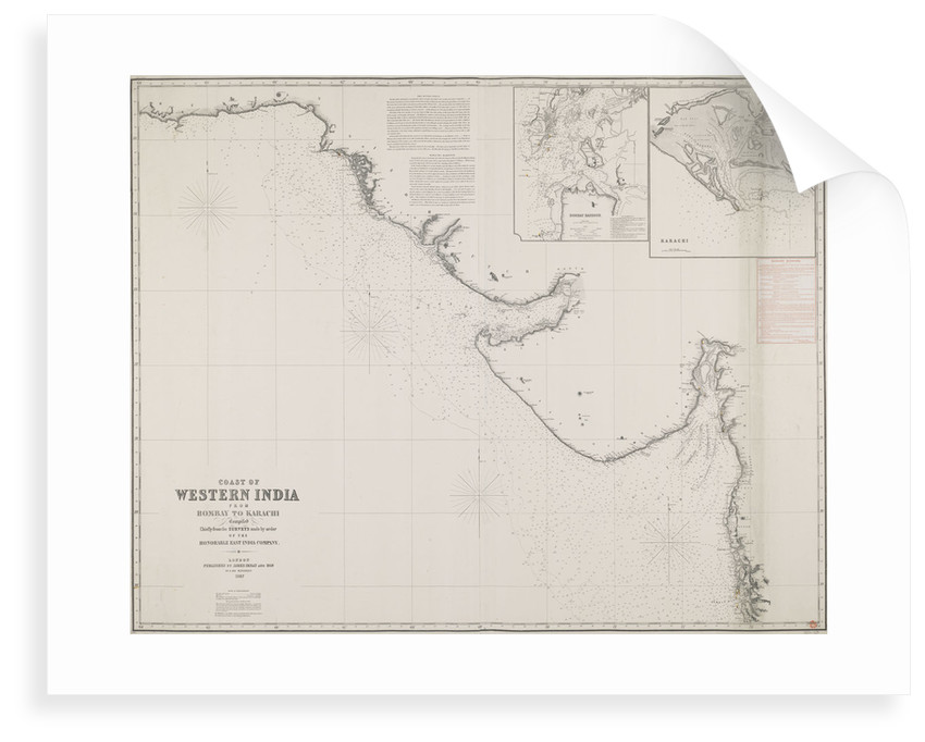 Coast of Western India from Bombay to Karachi compiled chiefly from the surveys made by order of the honorable East India Company by James Imray & Son
