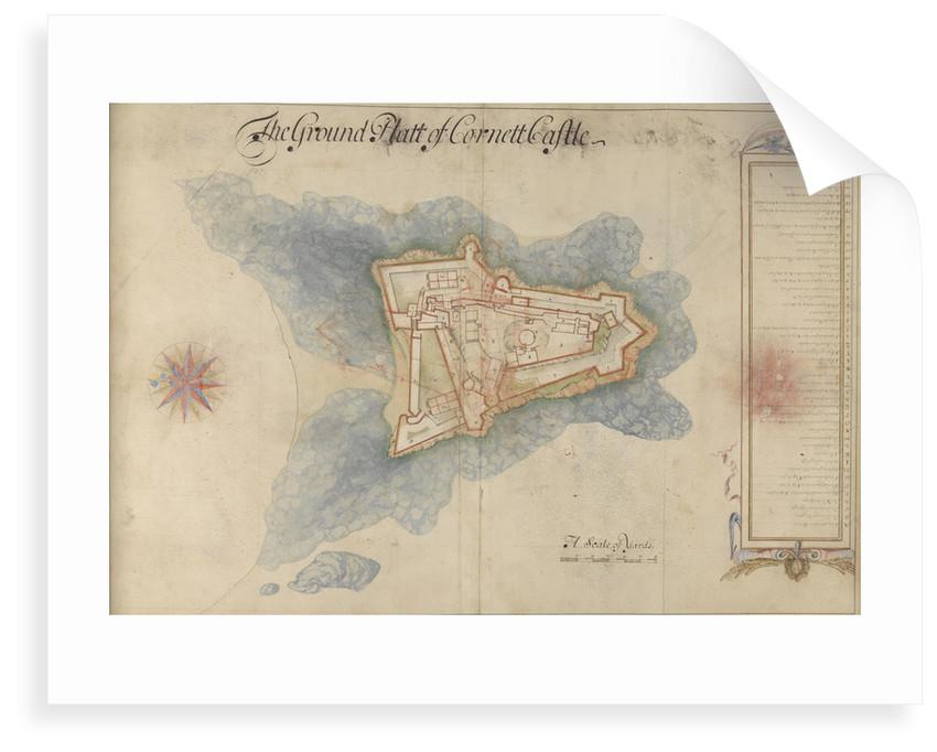 The Ground Platt of Cornett Castle by Thomas Phillips