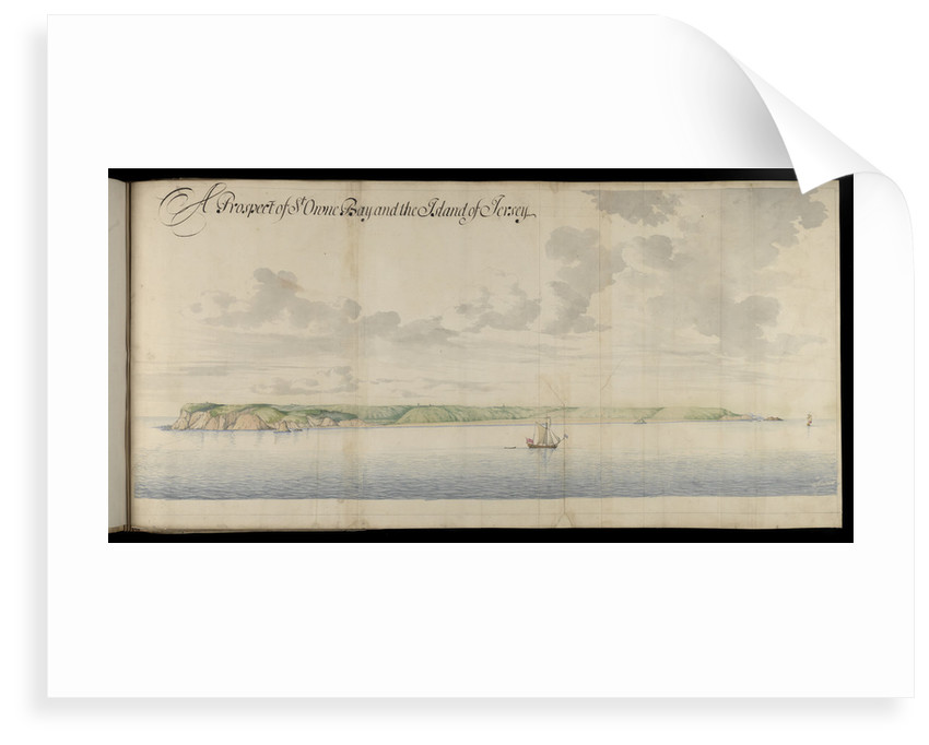 A prospect of St Owen Bay and the Island of Jersey by Thomas Phillips