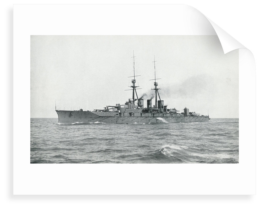 HIJMS 'Kongo' (1912), a battlecruiser built for Japan by Vickers, undergoing completion trials in British waters by unknown