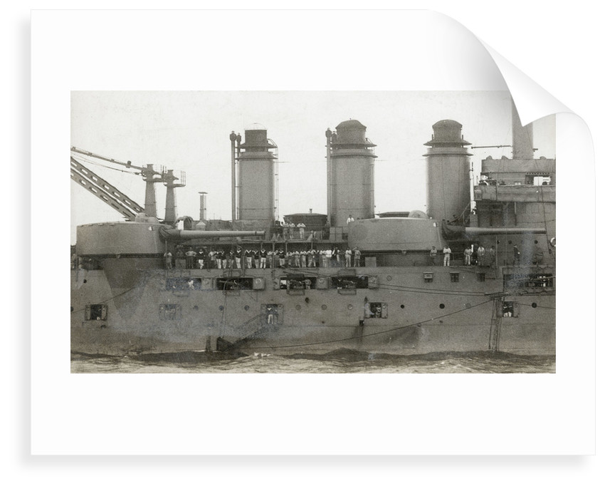 Battleship 'Danton' (Fr, 1909) showing midships turrets by unknown