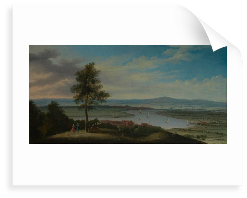 View of the Thames, Blackwall Reach and Greenwich Marsh from One Tree Hill by Pieter Tillemans