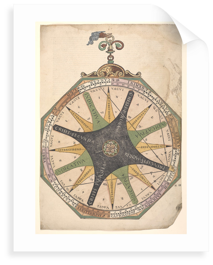 Volvelle illustrating the relationship between medical science and astrology by Peter Apian