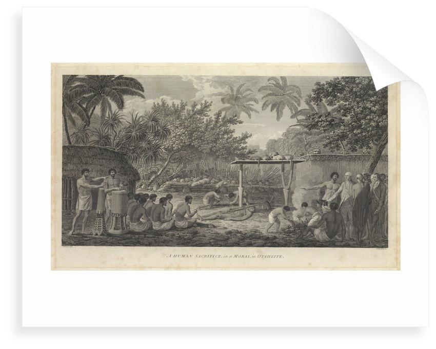 A human sacrifice, in a Morai, in Otaheite' [Tahiti] by Webber