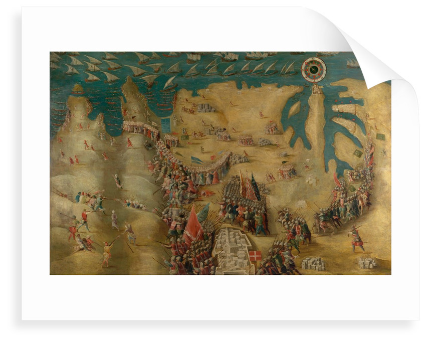 The Siege of Malta: Flight of the Turks, 13 September 1565 by Matteo Perez d'Aleccio