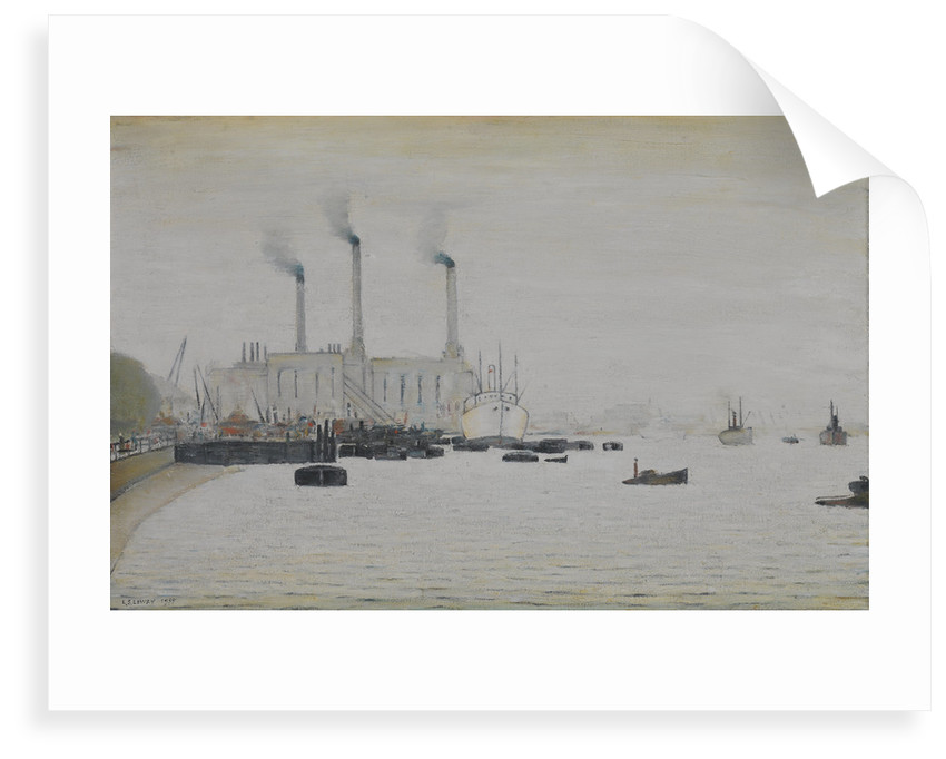 View of Deptford Power Station from Greenwich by Laurence Stephen Lowry