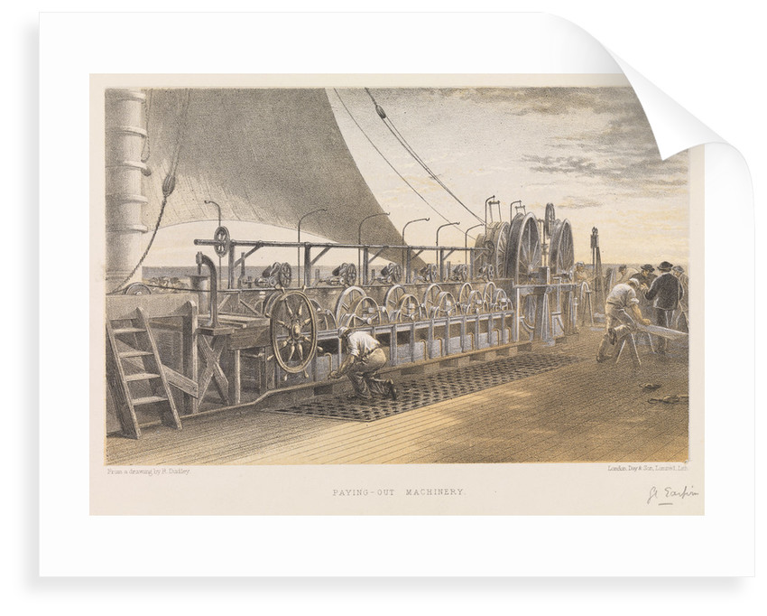 Paying-out machinery on board Brunel's 'Great Eastern' used in laying transatlantic cable by Robert Dudley