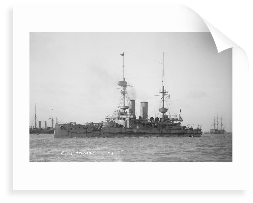Battleship HMS 'Bulwark' (1899) by unknown