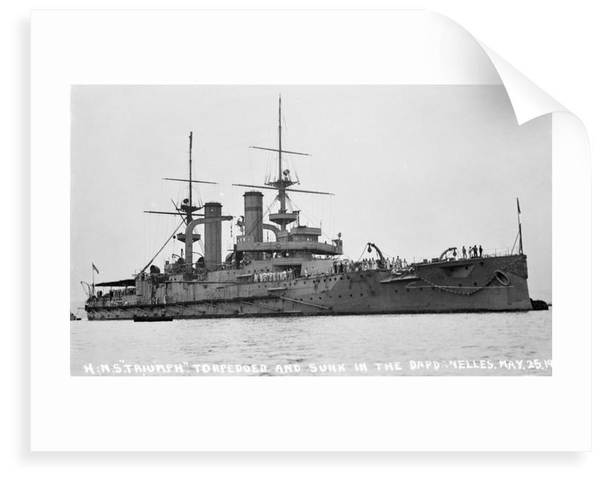 Battleship HMS 'Triumph' (1903) by unknown