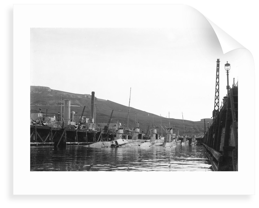HMS 'H47' (1918) submarine at portland with others including 'H50' and 'H33' by unknown