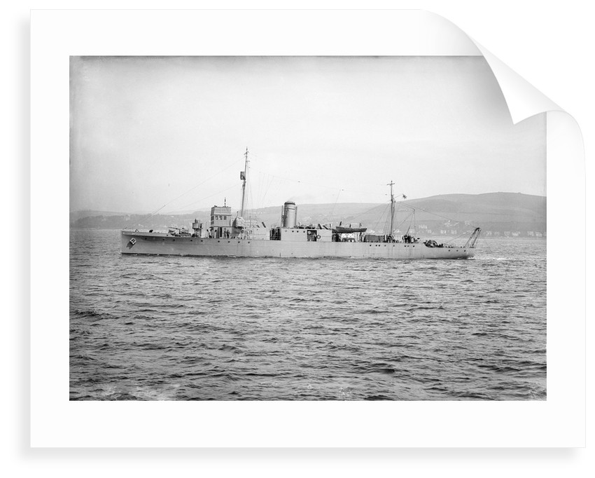 HMS 'Cattistock' (1917) during trials period by unknown