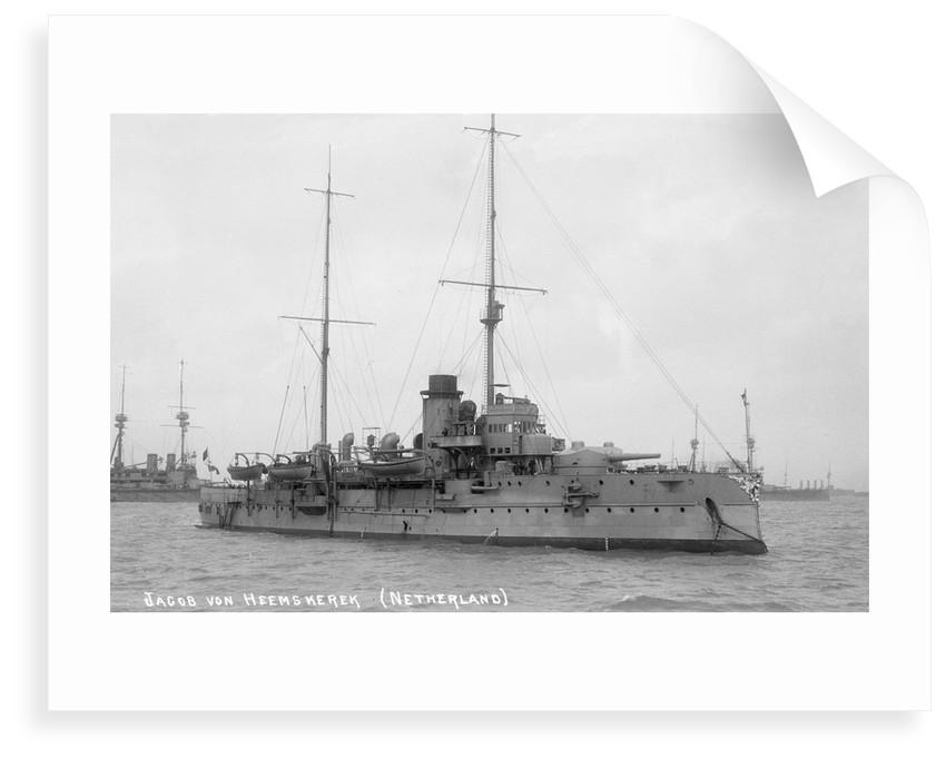 Coast defence battleship 'Jacob van Heemskerck' (Ho, 1906) by unknown