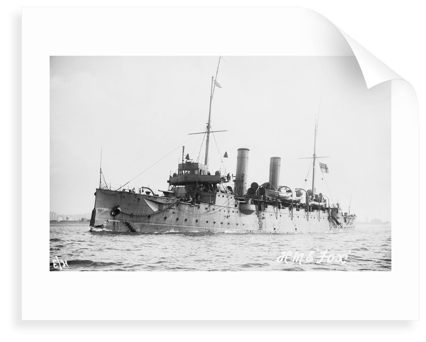 2nd class protected cruiser HMS 'Fox' (1893) under way by unknown