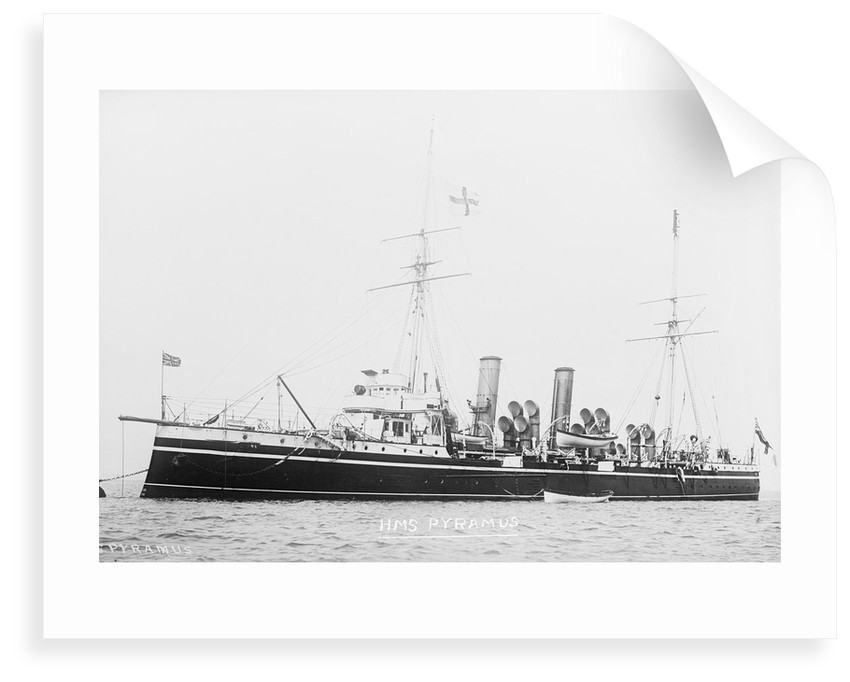 3rd class protected cruiser HMS 'Pyramus' (1897) by unknown