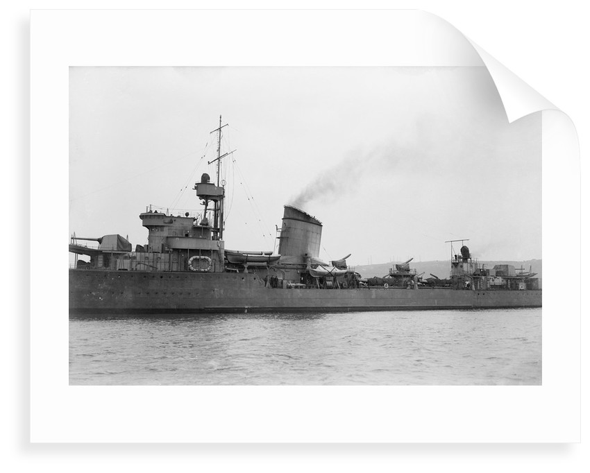 Destroyer 'Blyskawica'  (Poland, 1936) close up, amidships by unknown