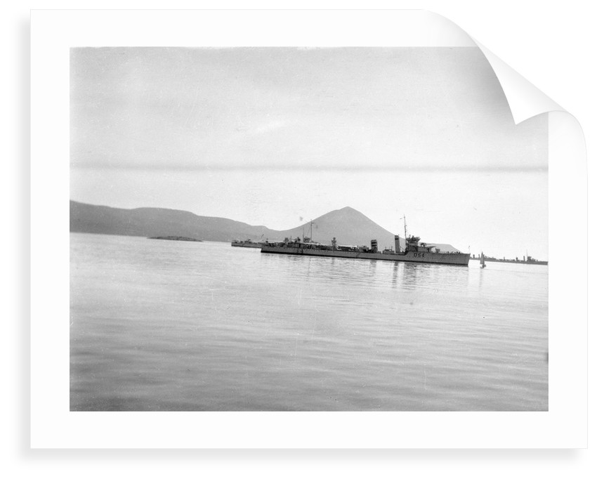 'Vanquisher' (Br, 1917) at anchor in Navarin Bay, Greece by unknown