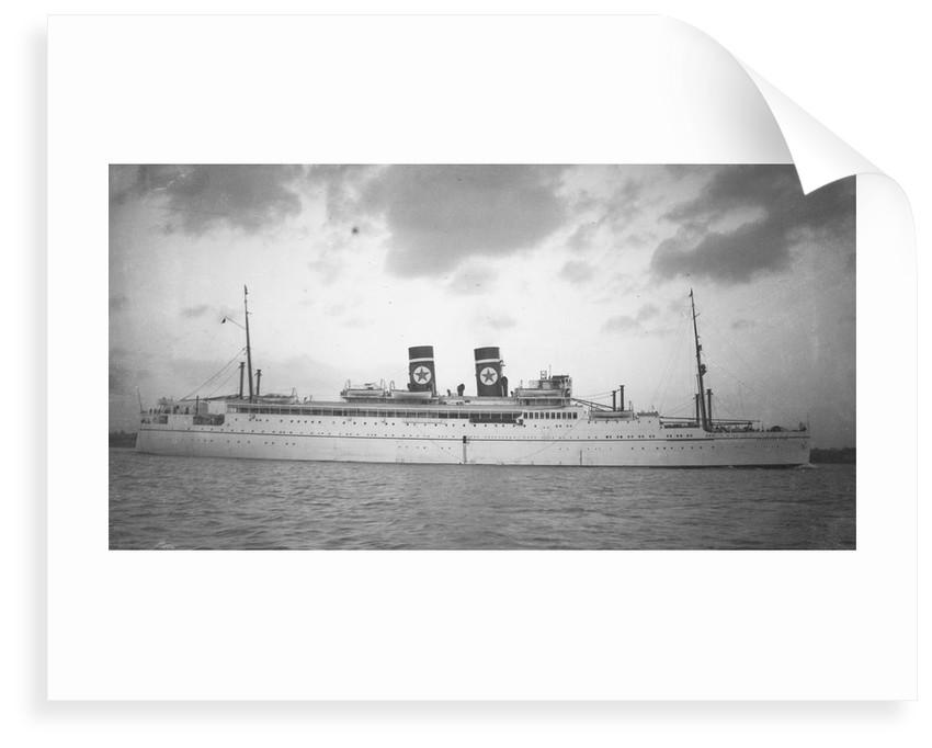 'Arandora Star' (Br, 1927) under way in Southampton Water by unknown
