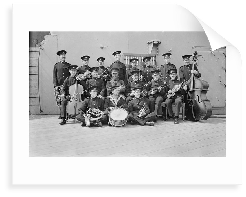 Crew on board HMS 'Queen Elizabeth' (1913) by unknown