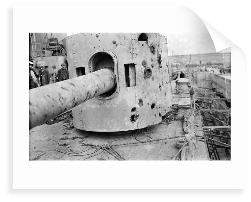 HMS 'Warspite' (1913), battle damage by unknown