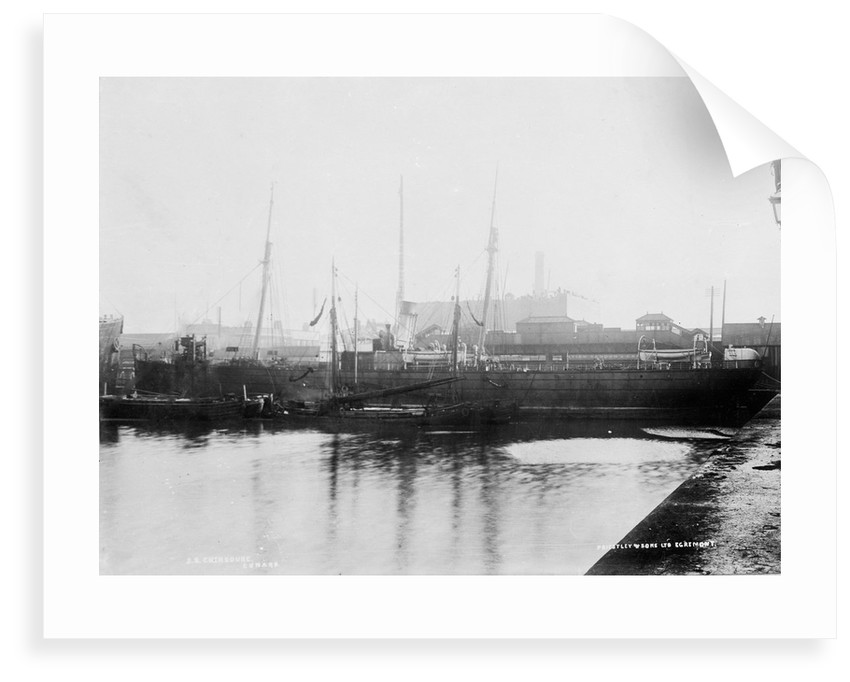 'Cherbourg' (Br, 1875), alongside wharf in Liverpool Docks by unknown