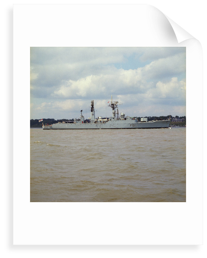 Frigate HMS 'Llandaff' (1955) in an unspecified location by unknown