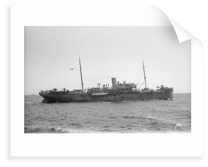 Armed boarding vessel HMS 'Chakdina' (1914)  under way en route Aden to Assab with the 15th Punjab Regiment on board by unknown
