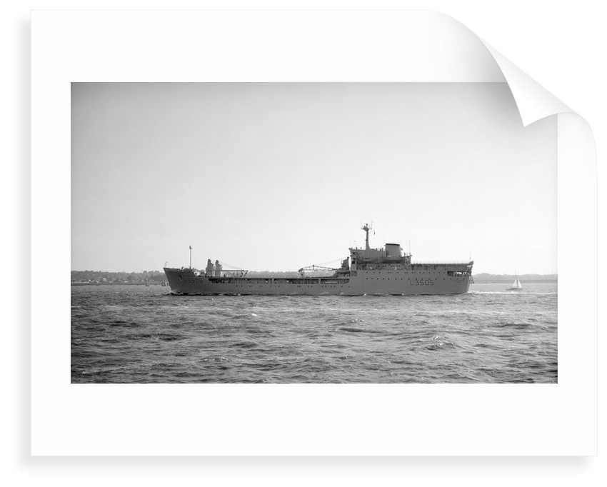 'Stromness' (Br, 1966), stores support ship (HMS - RFA), under way at Spithead by unknown