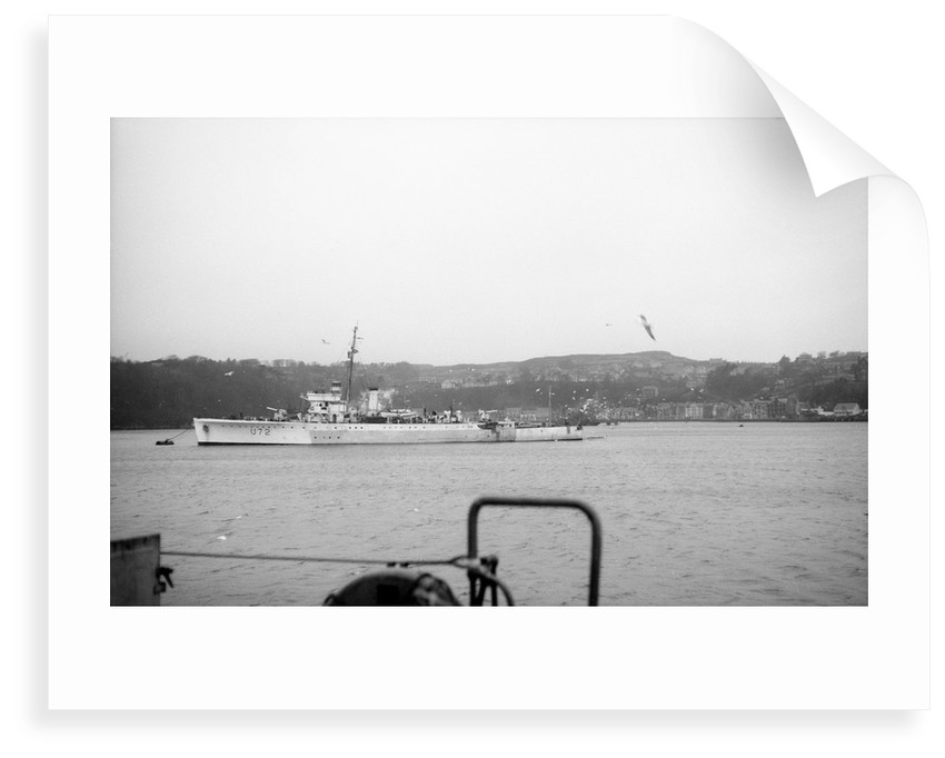 HMS 'WESTON' (1932) at moorings, Tobermory, Isle of Mull, slightly distant by Anonymous