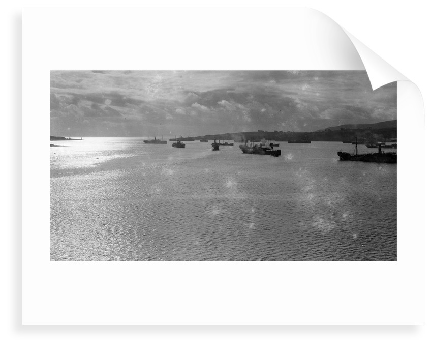 Convoy of ships in Lamlash Bay, Isle of Arran by Anonymous