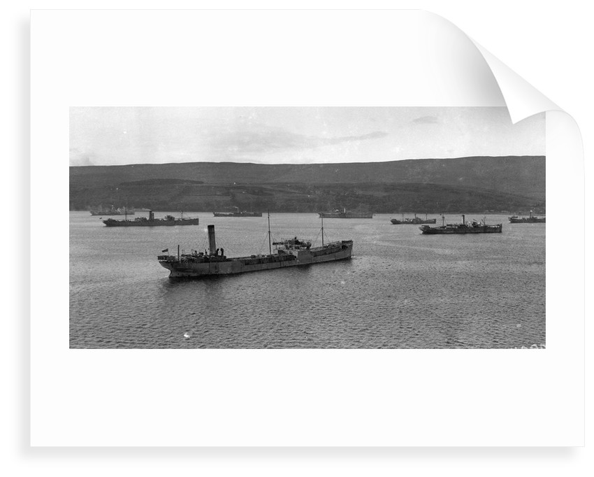 Convoy of ships in Lamlash Bay, Isle of Arran, Scotland by Anonymous