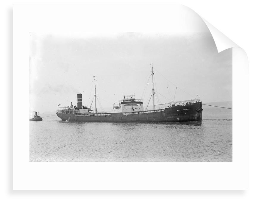'British Chemist' (Br, 1925) under tow arriving at Swansea by unknown