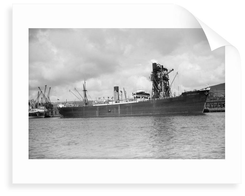 General cargo 'Baron Elphinstone' (Br, 1937) under a coal hoist in Kings Dock, Swansea by unknown