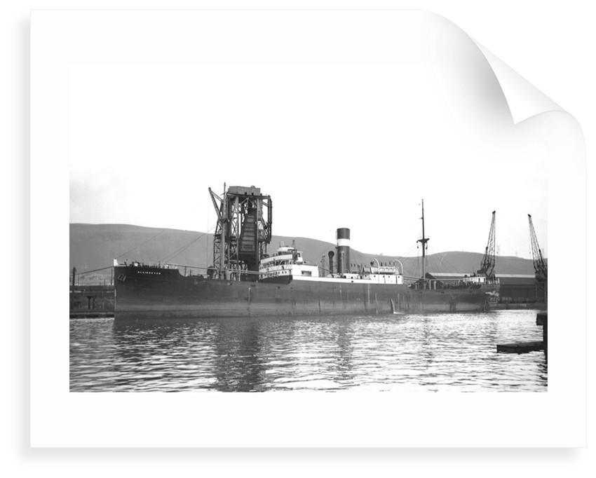 'Blairdevon' (Br, 1925), general cargo, Nisbet Shipping Co Ltd (G Nisbet & Co, managers) by unknown