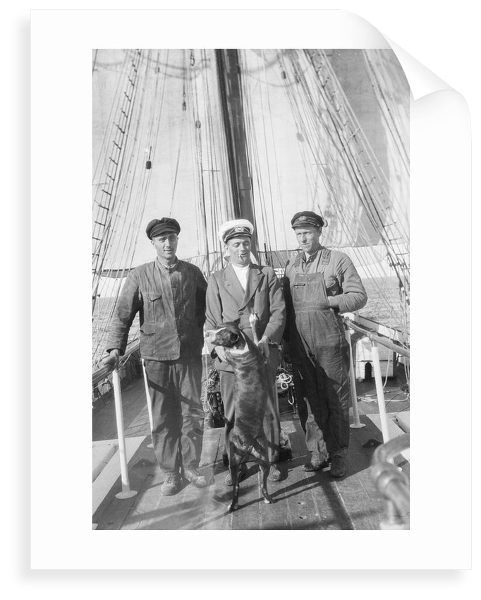 The second mate, the master, the first mate and the ship's dog by Alan Villiers