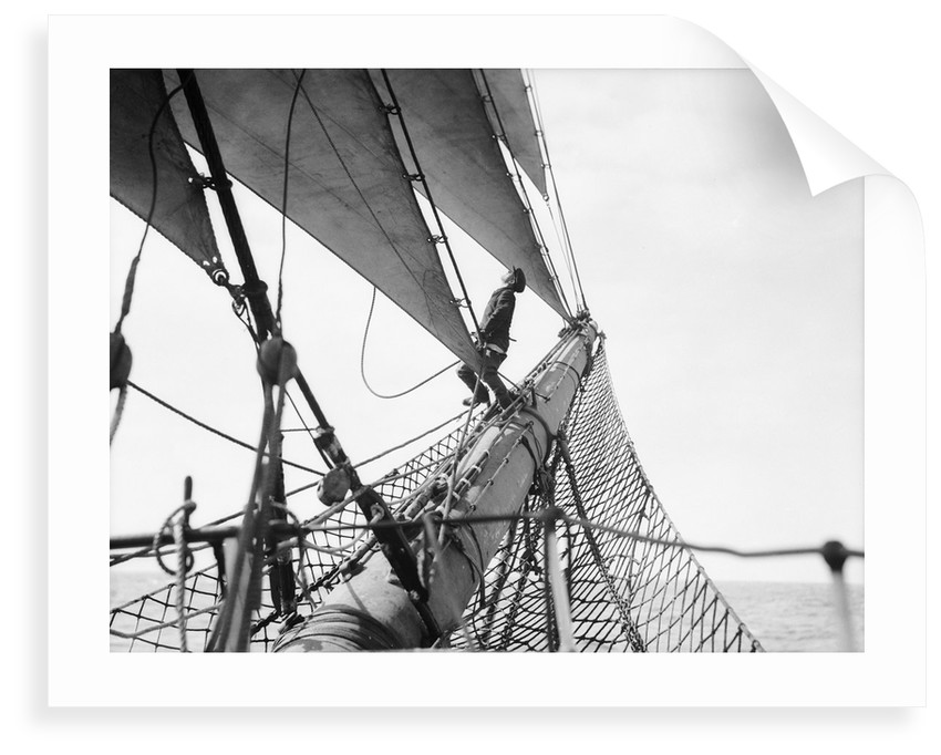 Looking aloft from the bowsprit by Alan Villiers