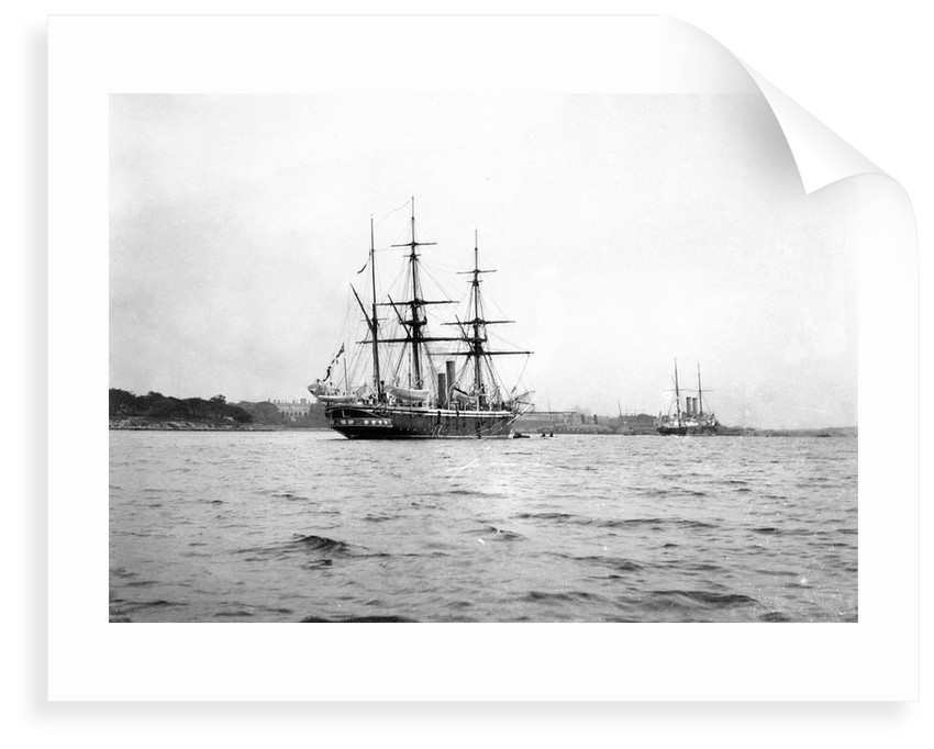 HMS 'Penguin' (1876) moored in Sydney Harbour by Willoughby Pudsey Dawson