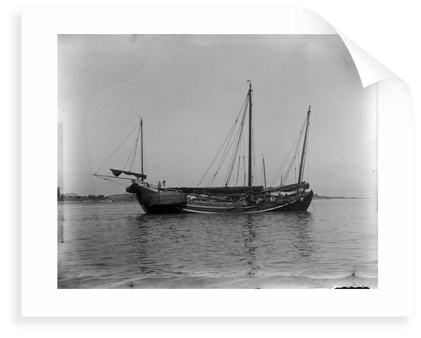 A Ningpo junk anchored at Wusong by Kenneth Hurlstone Jones