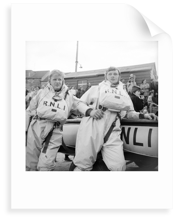 Members of the RNLI inshore lifeboat base at Seahouses, Cumbria by unknown
