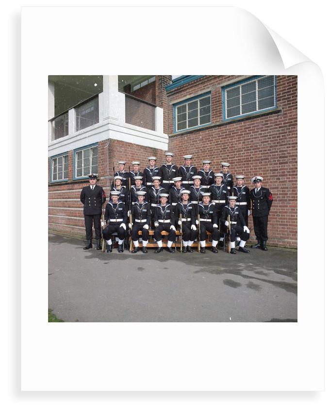HMS Ganges formal guard group photograph, 30th March 1975 by Reginald Arthur Fisk