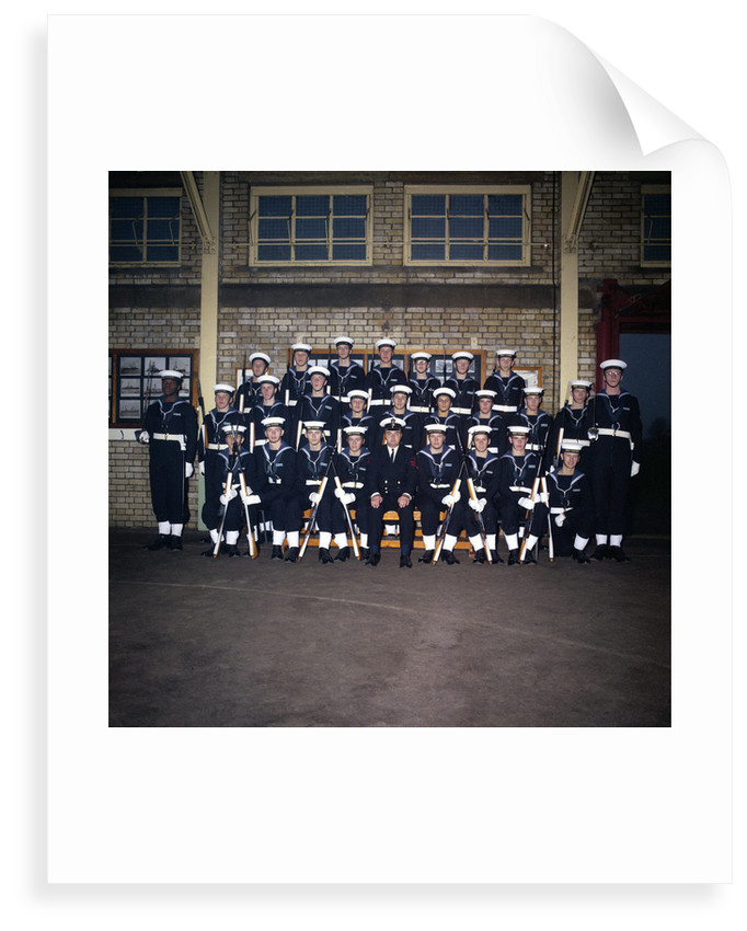 HMS Ganges formal group photograph, 7th December 1975 by Reginald Arthur Fisk