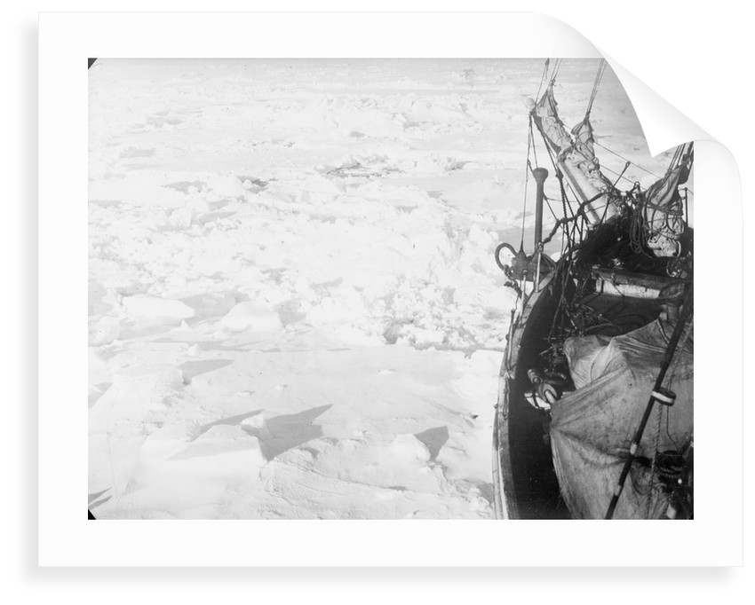 The ice floes, looking forward from the port bow of 'Endurance' (1912) by unknown