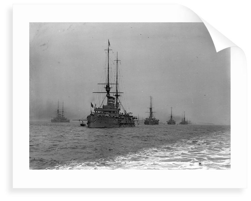 King's review of the fleet at Spithead, 1909 by unknown